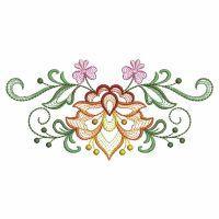 Rippled Jacobean Flower Borders