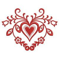 Redwork Heart Deco