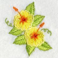 Hawaii Bird And Flower