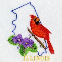 Illinois Bird And Flower