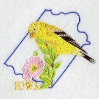 Iowa Bird And Flower