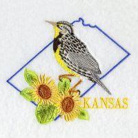 Kansas Bird And Flower