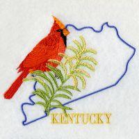 Kentucky Bird And Flower