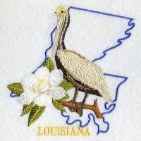 Louisiana Bird And Flower