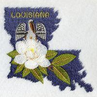 Louisiana Bird And Flower