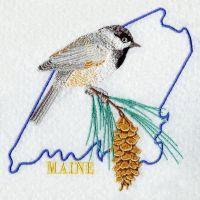 Maine Bird And Flower