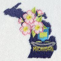 Michigan Bird And Flower