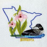 Minnesota Bird And Flower