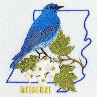 Missouri Bird And Flower