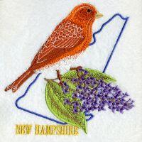 New Hampshire Bird And Flower