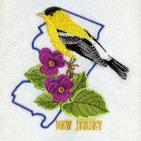New Jersey Bird And Flower