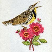 North Dakota Bird And Flower