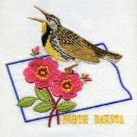 North Dakota Bird And Flower