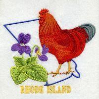 Rhode Island Bird And Flower