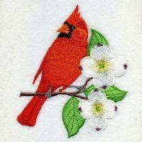 Virginia Bird And Flower