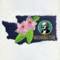 Washington Bird And Flower
