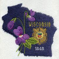 Wisconsin Bird And Flower