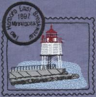 Great Lakes 3 Lighthouse Stamps