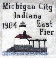 Ohio Illinois Indiana Lighthouse Blocks