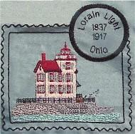 Ohio Illinois Indiana Lighthouse Stamps