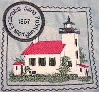 Michigan 2 Lighthouse Stamps