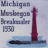 Michigan 3 Lighthouse Blocks
