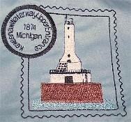 Michigan 3 Lighthouse Stamps