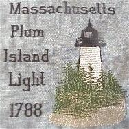 Massachusetts 2 Lighthouse Blocks