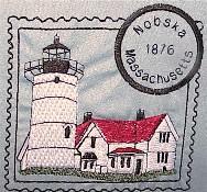 Massachusetts 2 Lighthouse Stamps