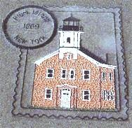New York 2 Lighthouse Stamps