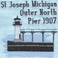 Michigan 4 Lighthouse Blocks
