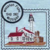 Michigan 4 Lighthouse Stamps