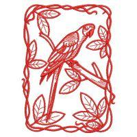 Redwork Parrots