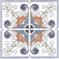 Cross Stitch Italian Tile Singles
