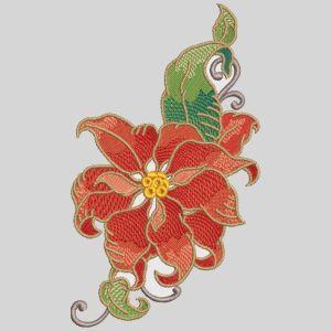 Elegant Christmas Poinsettias