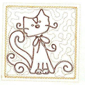 Trapunto Cats 4x4 -3
