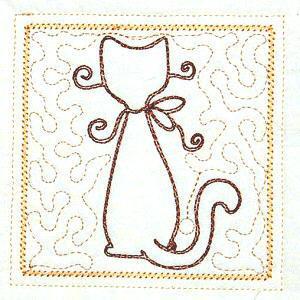 Trapunto Cats 4x4 -4
