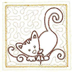 Trapunto Cats 4x4 -5