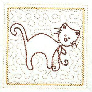 Trapunto Cats 4x4 -6