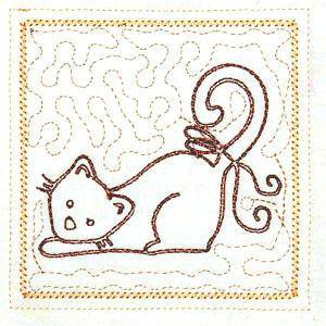 Trapunto Cats 4x4 -8