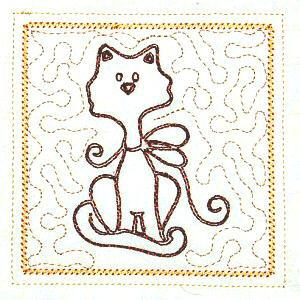 Trapunto Cats 4x4 -9