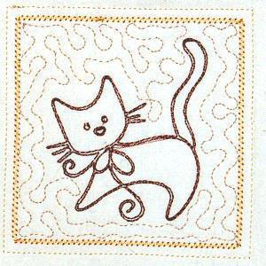 Trapunto Cats 4x4 -10