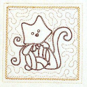 Trapunto Cats 4x4 -11