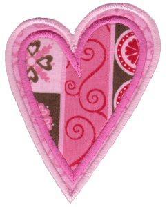 407 Applique Hearts
