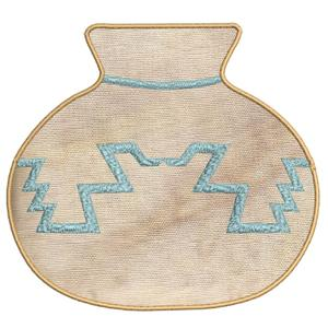 Applique Southwest Pottery -9