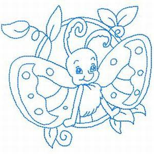 Cute Butterfly Redwork