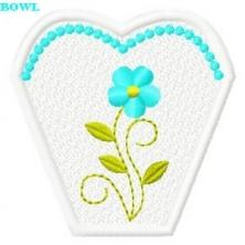 FSL Forget-Me-Not Bowl & Complimenting Base.