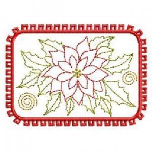 ITH Poinsettia Mug Rugs