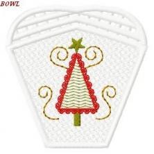 Charming FSL Christmas Bowl & Doily