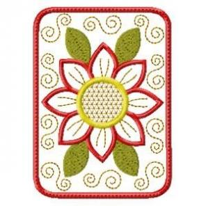 ITH Applique Flowers Mug Rugs